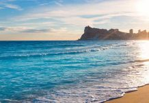 Beaches of Benidorm, Spain
