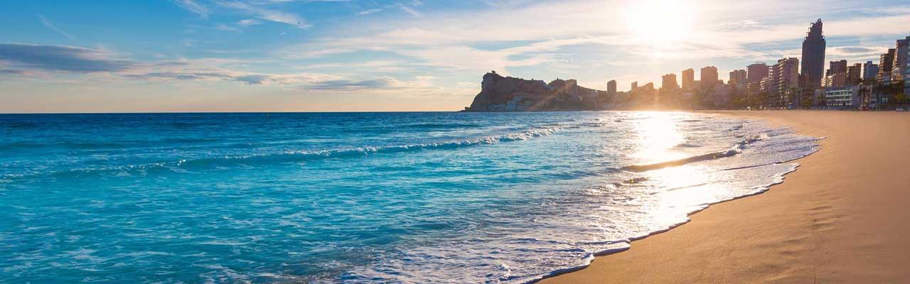 Beaches of Benidorm, Spain