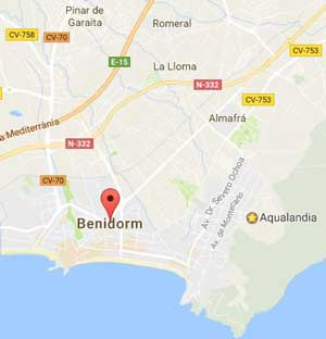 map of Benidorm
