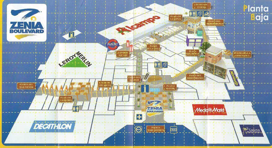 Zenia boulevard торревьеха на карте