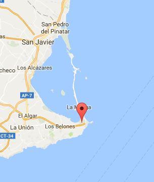 Mapa de La Manga del Mar Menor