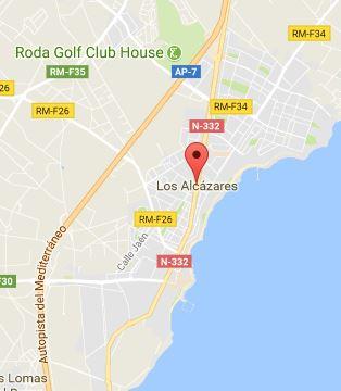 Los Alcázares Map
