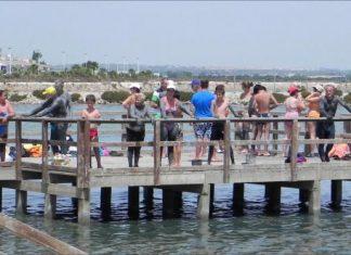 Mud Bathing in Mar Menor