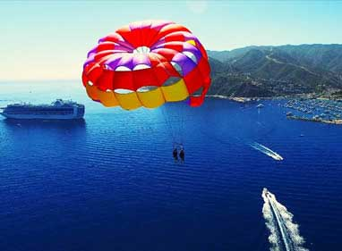 Parasailing in Spain