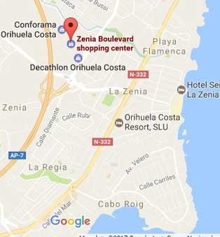 Zenia Boulevard Map