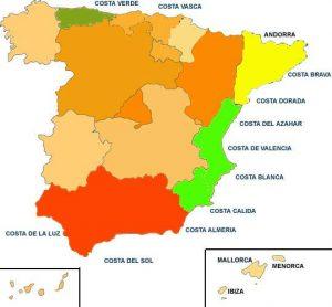 Spanish Costas Map
