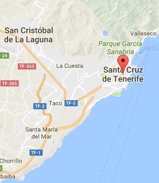 Mapa de Santa Cruz de Tenerife