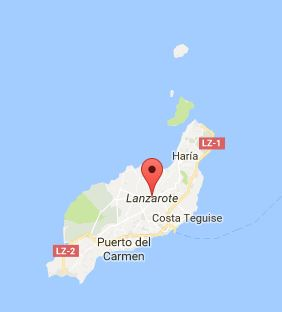 Map of Lanzarote