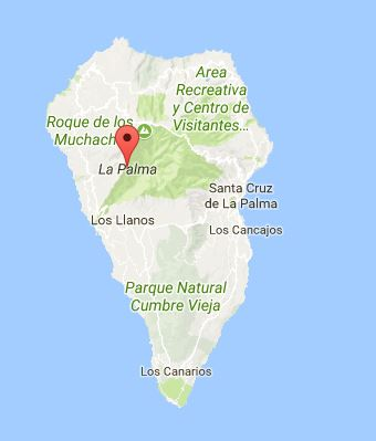 Map of La Palma
