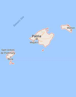 Google Mapa, Islas Baleares