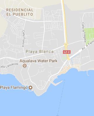 Mapa de Playa Blanca