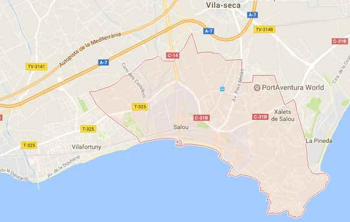 Map of Salou
