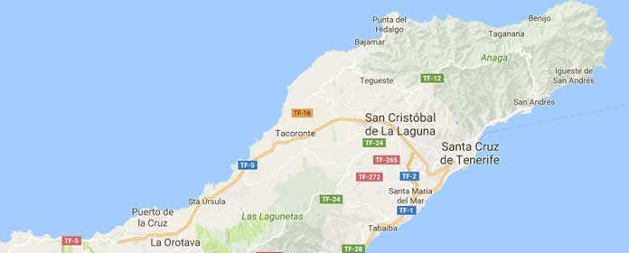 mapa of tenerife norte