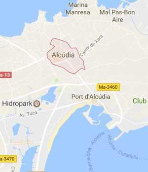 Alcúdia Map
