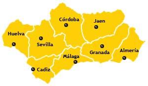 andalucia provinces map