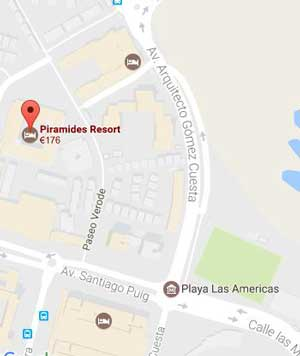 Piramides Resort Map