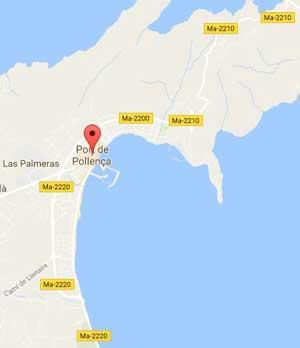 Puerto Pollensa Map