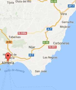 Costa almeria map