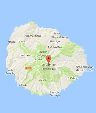 Map of La Gomera