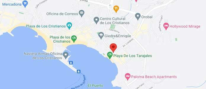 Los Cristianos Map