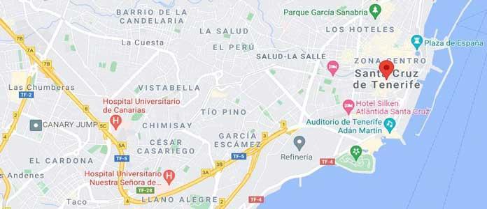 Santa Cruz de Tenerife Map