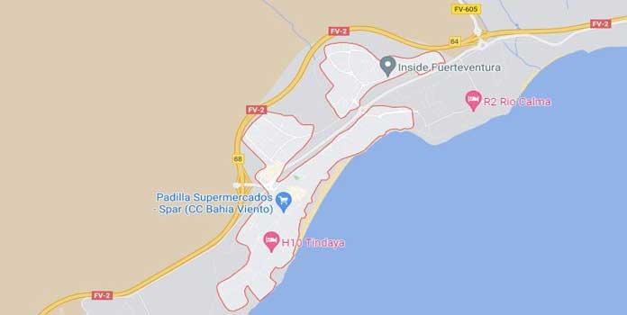 Costa Calma Map