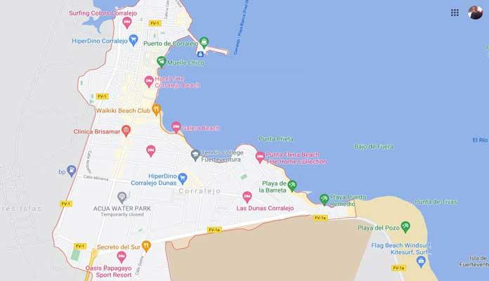 Map`of Corralejo