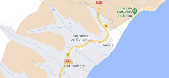map of Jandia